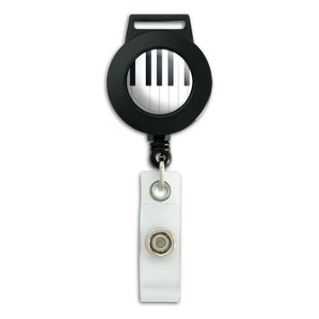 Piano Keys Music Retractable Badge Card ID Holder