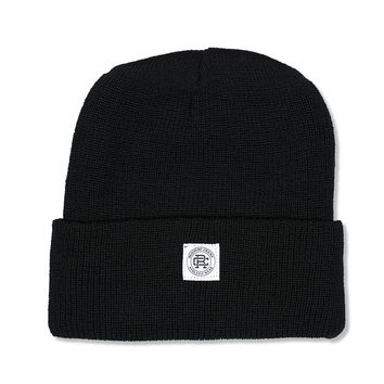 Knit Merion Wool Toque (Black)