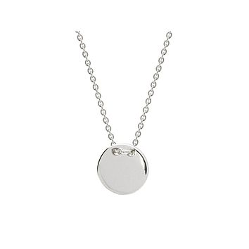 Sterling Silver Engravable Initials Disc Necklace