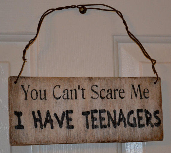 You Can't Scare Me I Have Teenagers Sign, From Signs Of Love