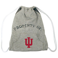 NCAA Indiana Hoosiers Hoodie Cinch Backpack, 14 x 17-Inch, Gray