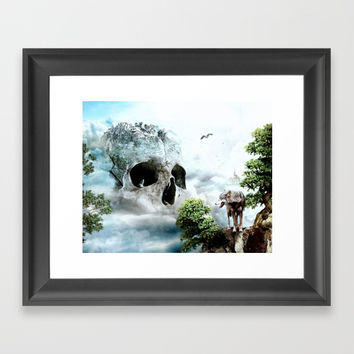 Cloudy Path Framed Art Print by RIZA PEKER