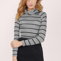 Nadia Striped Crop Sweater