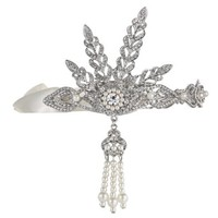 Babeyond® Bling Silver-Tone The Great Gatsby Inspired Art Deco Wedding Tiara Headpiece Headband w/ Gift Box