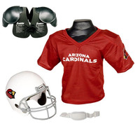 Arizona Cardinals Youth NFL Helmet and Jersey SET with Shoulder Pads