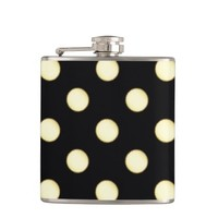 1 Dot Pattern Black B - Steel Flask
