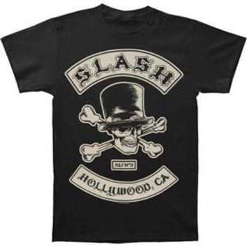 Slash Men's  Biker Patch T-shirt Black
