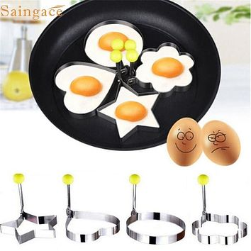 Home Wider Saingace Stainless Steel Fried Egg Shaper Pancake Mould Mold Kitchen Cooking Tools sep926 Drop Shipping