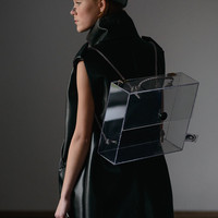 Transparent Glass Backpack