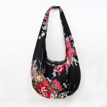 High Quality Ethnic Floral Cotton Shoulder Bag