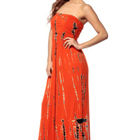 Abstract Tie Dye Maxi Dress