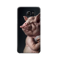 P1273 Crazy Pig Phone Case For Samsung Galaxy Note 5
