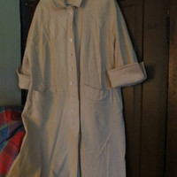 1950  Vintage Australian Lambs Wool Coat by Bataldi Soft Buttery cream- Classic Vintage CoAT