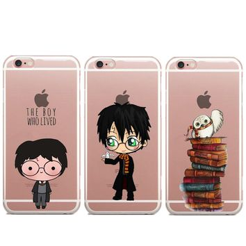 Avada Kedavra Bitch Harry Potter book Crystal Clear Soft TPU Phone Case For iPhone 7 7Plus 6 6s Plus5 SE 5S 8 8Plus X Cover
