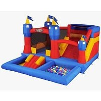 Blast Zone Misty Kingdom Inflatable Bouncer - Water Park with Slide by Blast Zone