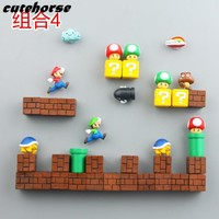 Super Mario party nes switch Creative cartoon garden  decoration fridge magnets   Creative PVC powerful fridge magnets AT_80_8