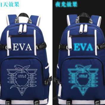 Anime Backpack School 2018 new Hot kawaii cute Neon Genesis Evangelion Backpack Cosplay EVA women School Travel Bags men shoulder bag Teenage Girl Backpacks AT_60_4