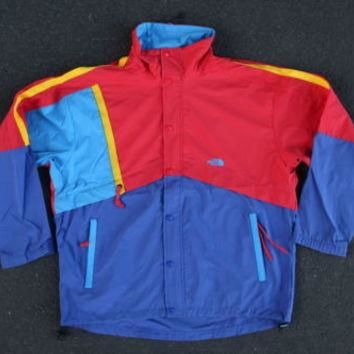 Vintage 90s North Face Colorblock Jacket Size L XL Nylon Windbreaker Coat