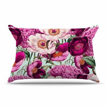 "83 Oranges ""Pink Velvet"" Pink Purple Nature Pattern Mixed Media Illustration Pillow Case"