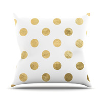"KESS Original ""Scattered Gold"" Outdoor Throw Pillow"