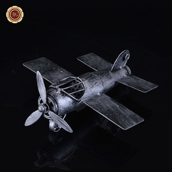 Craft Toy Vintage World War II Aircraft Model Handmade Airplane Model Retro Home Decoration Best Christmas Gifts