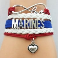 Infinity Love MARINES Bracelet Customized
