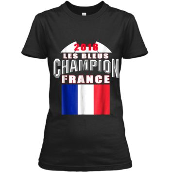 2018 France Soccer TShirt Team Les Bleus Cup tees Ladies Custom