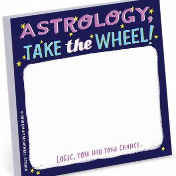 Astrology, Take The Wheel Sticky Note