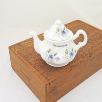 Vintage Miniature/Toy Tea Pot, Vintage from Ashley Down, Fine Bone China, England