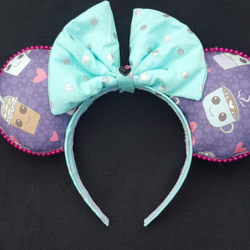 Coffee Theme Mouse ears