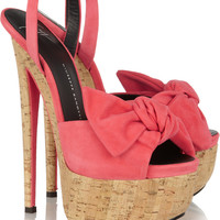 Giuseppe Zanotti | Bow-detailed suede sandals | NET-A-PORTER.COM
