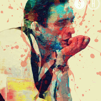 GOOD OL BoY (Johnny Cash) - Digital Art Print - MULTIPLE SiZES AVAiLABLE