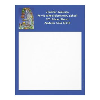 Teacher Appreciation Letterhead Ferris Wheel