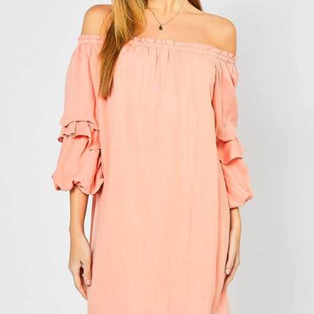 Tiered Puff Sleeve Dress