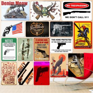 Red Dead Redemption Vintage Metal Tin Signs Bar Pub Decorative Plates Revolver Wall Sticker Shooting Game Art Poster Home Decor