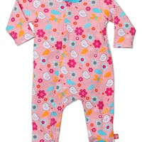 Infant Girl's Zutano 'Friendly Bird' Cotton One-Piece,