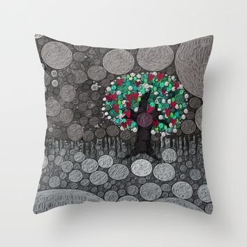 :: Tree of Hearts :: Throw Pillow by :: GaleStorm Artworks ::