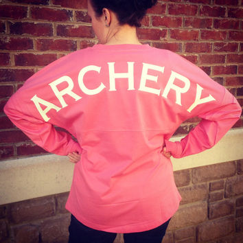 Archery T-Shirt - Pom Pom Pullover Long Sleeve