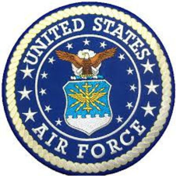 US Air Force Patch Large Round Logo Seal Back Patch for vest Jacket Embroidered