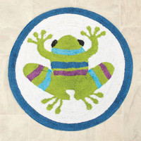 Frog Lily Pad Bathroom Rug Colorful Bath Decor -See store for coordinating items