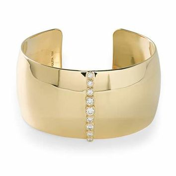 Ippolita Stardust 18k Gold Cuff Bracelet with Diamonds
