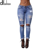 Vintage Ripped Jeans For Women Torn