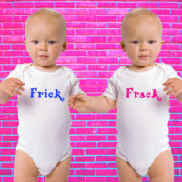 Frick and Frack Gerber Onesuit ® Twin Set