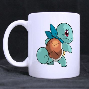 Anime pokemon Custom Personalized Water Coffee Mugs Beer Mug White Ceramic Cups 11 OZ Office Home Cup one Sides Printed Qi-6