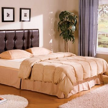 A.M.B. Furniture & Design :: Bedroom furniture :: Bedroom Sets :: Wood Bed Sets :: Misc. Sets :: Deep brown leather like vinyl tufted queen headboard