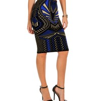 Sale-royal Printed Sweater Skirt