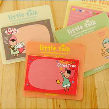 4 Pcs Cute Kawaii Sticky Note Memo Pad School Supplies Planner Stickers Hot Sale