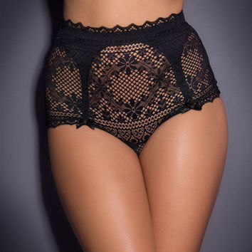 Suspenders by Agent Provocateur - Stone Big Brief