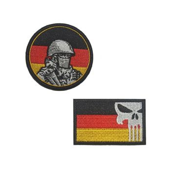 Germany flag Punisher Skull patches  German Soldier military patch molle tactical army  biker morale Badge for backpack vest