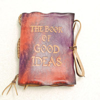 Colorful Book of Good IdeasLeather Journal by GILDBookbinders